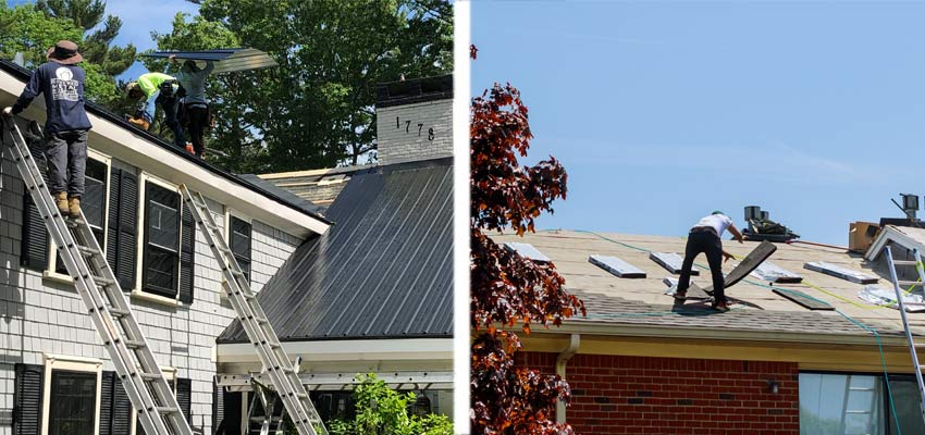 metal roofing vs asphalt shingle roofs